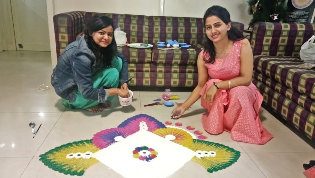 Employeed at Evergreen Publications making Rangoli