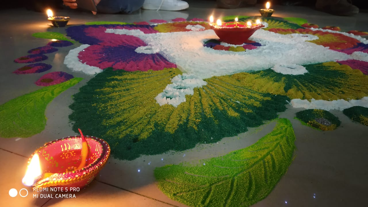 Beautiful Decoration on DIwali at Evergreen PUblications